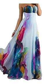 מקסי גב חשוף, פרחוני - שמלה נדן יום יומי בגדי ריקוד נשים