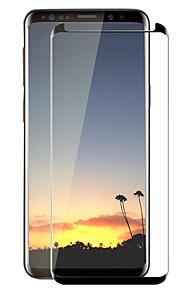 スクリーンプロテクター Samsung Galaxy のために S9 強化ガラス 1枚 フルボディプロテクター 3Dラウンドカットエッジ 傷防止 硬度9H
