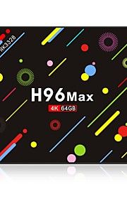 H96 Max 4G+64G Android 7.1 TV Box RK3328 Quad-Core 64bit Cortex-A53 4GB RAM 64GB ROM Octa-core