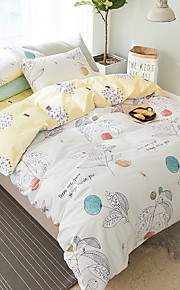 Duvet Cover Sets Cartoon 3 Piece Poly/Cotton 100% Cotton Reactive Print Poly/Cotton 100% Cotton 1pc Duvet Cover 1pc Sham 1pc Flat Sheet