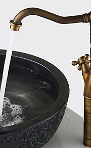 Wastafel kraan - Waterherfst Antiek Koper Middenset Een Hole / Single Handle Een Hole