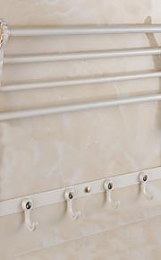 1pc Foldbar Multifunktion Høj kvalitet Moderne Metal Badeværelseshylde Vægmonteret