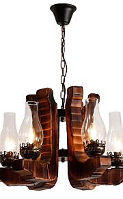 JLYLITE Chandelier Uplight - Mini Style, Rustic / Lodge Artistic, 110-120V 220-240V Bulb Not Included