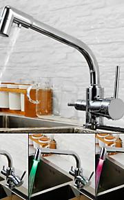 Grifería de Cocina - Moderno Cromo Boquilla estándar Montaje en encimera