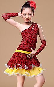 Baile Latino Accesorios Chica Entrenamiento Rendimiento Poliéster Diseño / Estampado Fajas / Cintas Combinación Sin Mangas Cintura Media