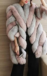 79 Γυναικεία Φθινόπωρο   Χειμώνας Μεγάλα Μεγέθη Μακρύ Γούνινο παλτό aa112789220