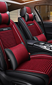 ODEER Headrests Waist Cushions Seat Covers Black/Red Textile PU Leather Common for universal All years All Models