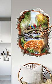 Adesivi decorativi da parete - Adesivi aereo da parete Animali 3D Salotto Camera da letto Bagno Cucina Sala da pranzo Sala studio /