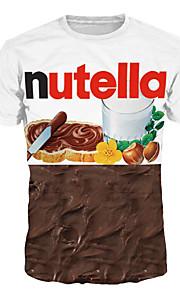 男性用 プリント プラスサイズ Tシャツ ベーシック / 誇張された ラウンドネック 幾何学模様 / カラーブロック / レタード / 半袖
