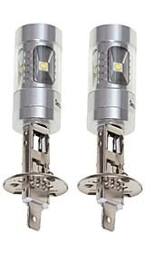 SENCART 2pcs H1 Bil / Motercykel Elpærer 30W SMD LED 1800-2100lm 6 LED Tågelys For Universel Alle år