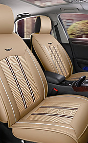 ODEER Car Seat Cushions Seat Covers Beige Textile / PU Leather Common for universal All years All Models