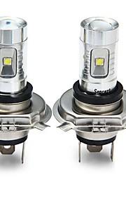 SENCART 2pcs H4 Bil / Motercykel Elpærer 30W SMD LED 1800-2100lm 6 LED Tågelys For Universel Alle år