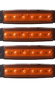 ZIQIAO 4stk Bil Elpærer 1.5W SMD LED 120lm 6 Udvendige Lights For Universel Universel Alle år
