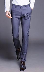 男性用 ベーシック プラスサイズ スーツ パンツ - ソリッド ブラック