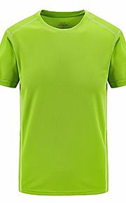 Hombre Básico Deportes Camiseta, Escote Redondo Un Color Negro XXXXXL / Manga Corta