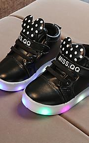 Poikien / Tyttöjen PU Bootsit Taapero (9m-4ys) / Pikkulapset (4-7 vuotta) Comfort / Välkkyvät kengät Solmittavat / Tarranauhalla / LED Valkoinen / Musta / Pinkki 봄 & Syksy / Polyuretaani