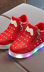 Poikien / Tyttöjen PU Bootsit Taapero (9m-4ys) / Pikkulapset (4-7 vuotta) / Suuret lapset (7 vuotta +) Nilkkuri / Välkkyvät kengät Ketjuilla / LED Musta / Punainen / Pinkki 봄 & Syksy / Nilkkurit