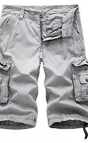 Ανδρικά Φαρδιά Chinos / Σορτσάκια / Φορέματα φορτίου Παντελόνι - Μονόχρωμο Σκούρο γκρι