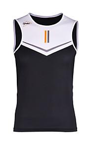 1fbbad33aaa2 SPAKCT Ανδρικά Αμάνικο Γιλέκο ποδηλασίας - Μαύρο   Άσπρο Συμπαγές Χρώμα Ποδήλατο  Γιλέκο Γρήγορο Στέγνωμα Αθλητισμός