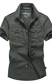 男性用 シャツ ベーシック ソリッド / 半袖