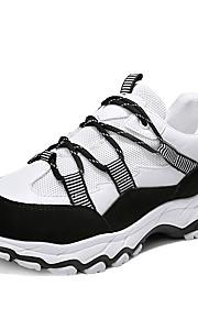 Naisten Comfort-kengät Silmukka Syystalvi Urheilukengät Koripallo Tasapohja Pyöreä kärkinen Valkoinen / Musta / Harmaa / Color Block