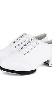 Ανδρικά Παπούτσια με τάπες Φο Δέρμα Αθλητικά Πυκνό τακούνι Εξατομικευμένο  Παπούτσια Χορού Λευκό   Μαύρο d792cac111d
