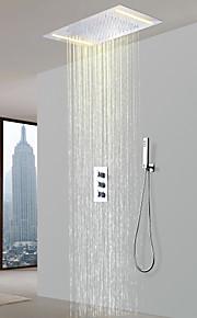 샤워 수전 - 콘템포라리 크롬 샤워 시스템 도자기 발브 Bath Shower Mixer Taps / 황동 / 세 핸들 세 개의 구멍