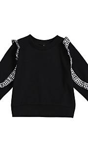 a20acab5298 34 Μωρό Κοριτσίστικα Ενεργό Μονόχρωμο Μακρυμάνικο Κανονικό Πολυεστέρας  Μπλούζα με Κουκούλα & Φούτερ Μαύρο / Νήπιο