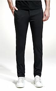 男性用 ストリートファッション プラスサイズ チノパン パンツ - ソリッド ブラック