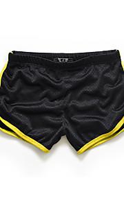 Homme Actif Mince / Short Pantalon - Couleur Pleine / Bloc de Couleur Jaune / Sports / Eté