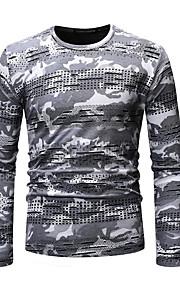 Majica s rukavima Muškarci - Osnovni Dnevno Geometrijski oblici / kamuflaža Okrugli izrez Tamno siva L / Dugih rukava