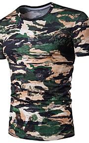 Majica s rukavima Muškarci - Osnovni Dnevno Pamuk kamuflaža Okrugli izrez Slim Djetelina L / Kratkih rukava / Ljeto