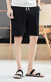 男性用 プラスサイズ ショーツ パンツ - ソリッド ブラック