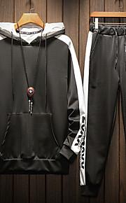 Муж. Классический Толстовка / Activewear Set - Однотонный