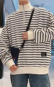 男性用 長袖 スウェットシャツ - カラーブロック スタンド