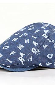 男女兼用 ヴィンテージ プリント ベレー帽