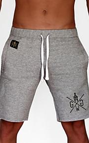 男性用 ベーシック アジア人サイズ ショーツ パンツ - レタード ブラック