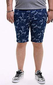 男性用 ストリートファッション アジア人サイズ ショーツ パンツ - カモフラージュ ブルー