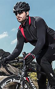 SANTIC Pánské Cyklovesta Jezdit na kole Vesta Reflexní Zahřívací Větruvzdorné Sportovní Pevná barva Polyester Spandex elastan Zima Černá Horská cyklistika Silniční cyklistika Oblečení Pokročilý