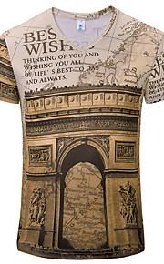 Ανδρικά T-shirt Γράμμα Λαιμόκοψη V Μαύρο XL
