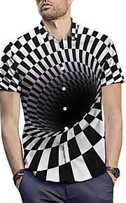 男性用 プリント シャツ チェック