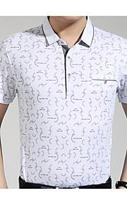 メンズTシャツ - 幾何学的なシャツの襟