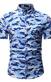 男性用 シャツ 活発的 / ベーシック カモフラージュ