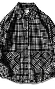 メンズeu / usサイズルーズシャツ - ストライプシャツカラー