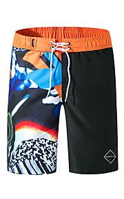 男性用 ブルー ブラック スイミングトランクス ボトムス スイムウェア - カラーブロック XL XXL XXXL ブルー