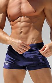 男性用 EU / USサイズ ブルー ブラック 男の子の足 ボトムス スイムウェア - ソリッド L XL XXL ブルー