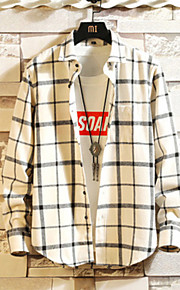 男性用 プラスサイズ シャツ チェック
