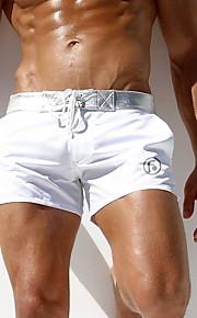 Ανδρικά Μέγεθος EU / US Λευκό Μαύρο Boy Leg Σλιπ Μαγιό - Μονόχρωμο L XL XXL Λευκό