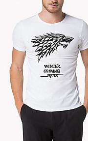 Hombre Camiseta Gráfico Dorado XL