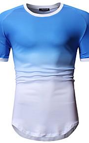 T-skjorte Herre - Ensfarget, Trykt mønster Blå L